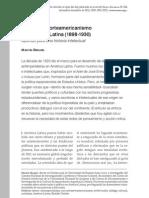 Martín Bergel - El anti-antinorteamericanismo en América Latina (1898-1930). Apuntes para una historia intelectual