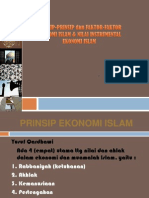 Prinsip-Prinsip Dan Faktor-Faktor Ekonomi Islam & Nilai Instrumental Ekonomi Islam