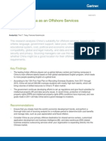 Analysis of China as an Offshore Services Location