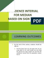 Confidence Interval for Median Based on Sign Test