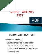 Mann Whitney Example