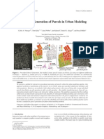 Procedural Generation of Parcels in Urban Modeling