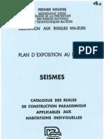 PLU Charleval PPR Seisme 4.2 Catalogue Regles Pdg