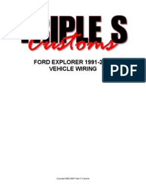 Ford Explorer 1991-2004 - Wiring | Ignition System | Yellow on