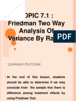 Friedman Two Way Analysis of Variance by Ranks