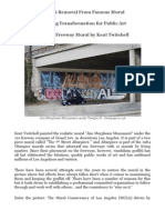 Mural Public Art Graffiti Removal, Protection and Restoration of Mural by Kent Twitchell