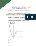 Diremos que el límite de una función f
