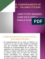 ANALISIS COMPORTAMIENTO DE LOS COSTOS – VOLUMEN UTILIDAD