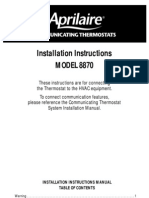 Aprilaire TSTAT Installation