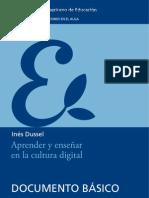 Aprender y enseñar en la cultura digital Inés Dussel