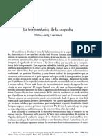 La Hermeneutica de La Sospecha- Gadamer