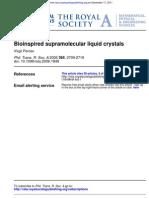 Virgil Percec- Bioinspired supramolecular liquid crystals