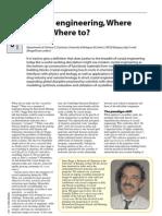 Dario Braga- Crystal engineering,Where from? Where to?