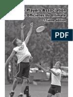 Regles 11 Edition 2007 - Ultimate Frisbee