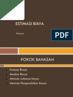 Estimasi Biaya