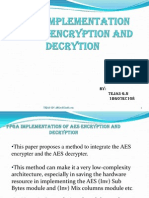 Fpga Implementation of Aes Encryption and Decryption