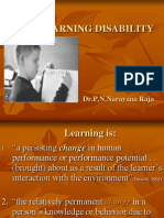 Learning Disability by Dr. P.N.Narayana Raja