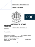 Automatic Stand Release using Spring Mechanism in Vehicles