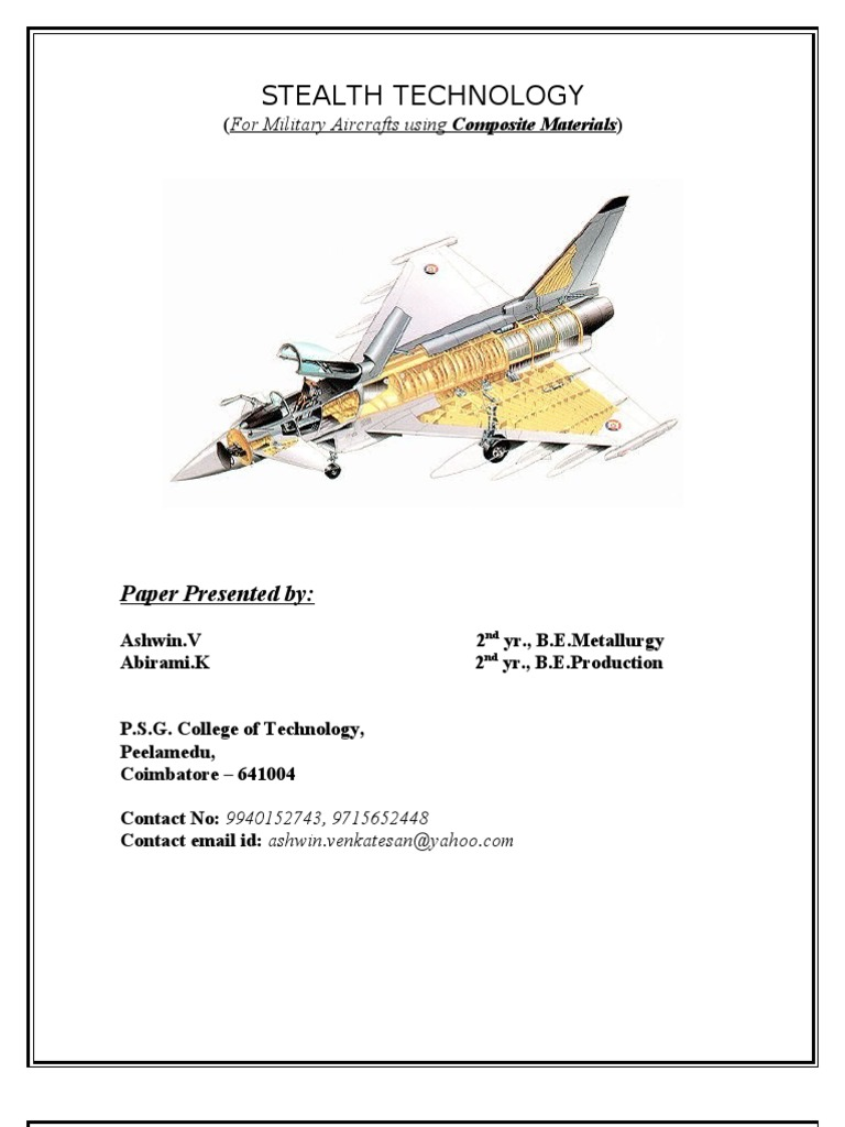Stealth Technology for Military Aircraft using Composite Materials