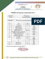 Titanium Dioxide Rutile  (RCG-3-R-P-C) - Product Sheet - Chemiglob