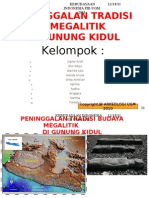 Peninggalan Budaya Megalitik di Gunung Kidul