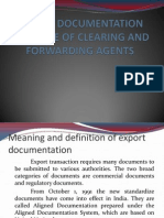 Export Documentation and Role of Clearing and Forwarding