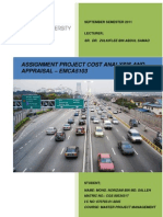 EMCA5103 Assignment PROJECT COST ANALYSIS AND APPRAISAL