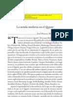 La Novela Moderna en El Quijote