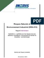 GUI2001 risques naturels & environnement industriel _séismes, inondations, mouvements de terrain & tempêtes  _FR