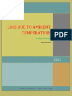 Loss Due to Ambient Temperature