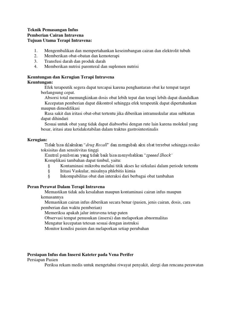 Teknik Pemasangan Infus Dan Kateter Urine