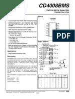 CD4008BMS - Full Adder