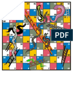 Game Board Snakes and Ladders Full A4