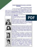 CINCO MUJERES MÁS REPRESENTATIVAS EN LA HISTORIA PERUANA