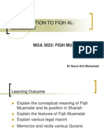 Week 1 Introduction to Fiqh Al-muamalat
