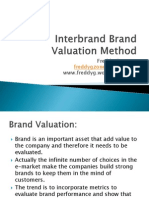 Inter Brand Valuation Method - By Freddy Guevara