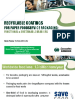 72857953 Recyclable Coatings for Paper Food Service Packaging