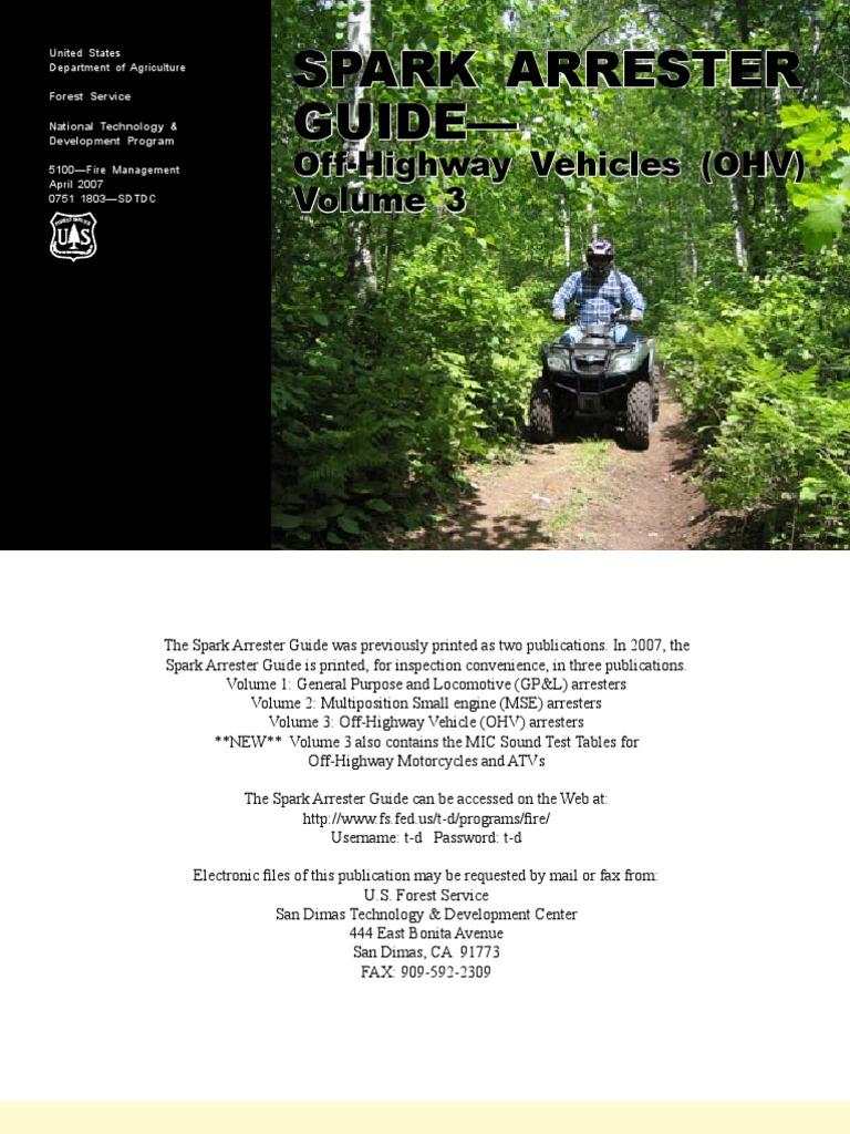 OHV USDA Spark Arrester | Turbocharger | Internal Combustion Engine