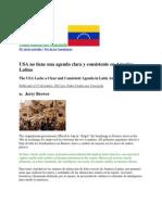 USA No Tiene Una Agenda Clara y Consistente en America Latina