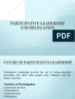Participative Leadership and Delegation