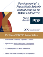 2 - Development of  a Probabilistic Seismic Hazard Analysis for Middle East NPP's, Paul C. Rizzo.