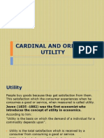 Cardinal and Ordinal Utility