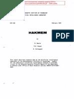 Hakmem. Mit Ai Memo 239, Feb 29, 1972-Ocr