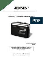 Jensen Jscr-75 User Guide