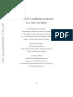 Relativisticquanm Mechanics of a Dirac