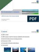 Emplazamientos estudiados en canarias para el gas 2006