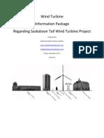 Saskatoon Wind Turbine Coaltion - Information Package - Version 4 - Saskatoon Tall Wind Turbine Project