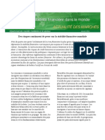 Rapport sur la stabilité financière