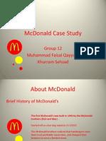 Mc Donalds Case Study