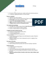 Nursing Procedures 2003